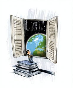 Books into outer space