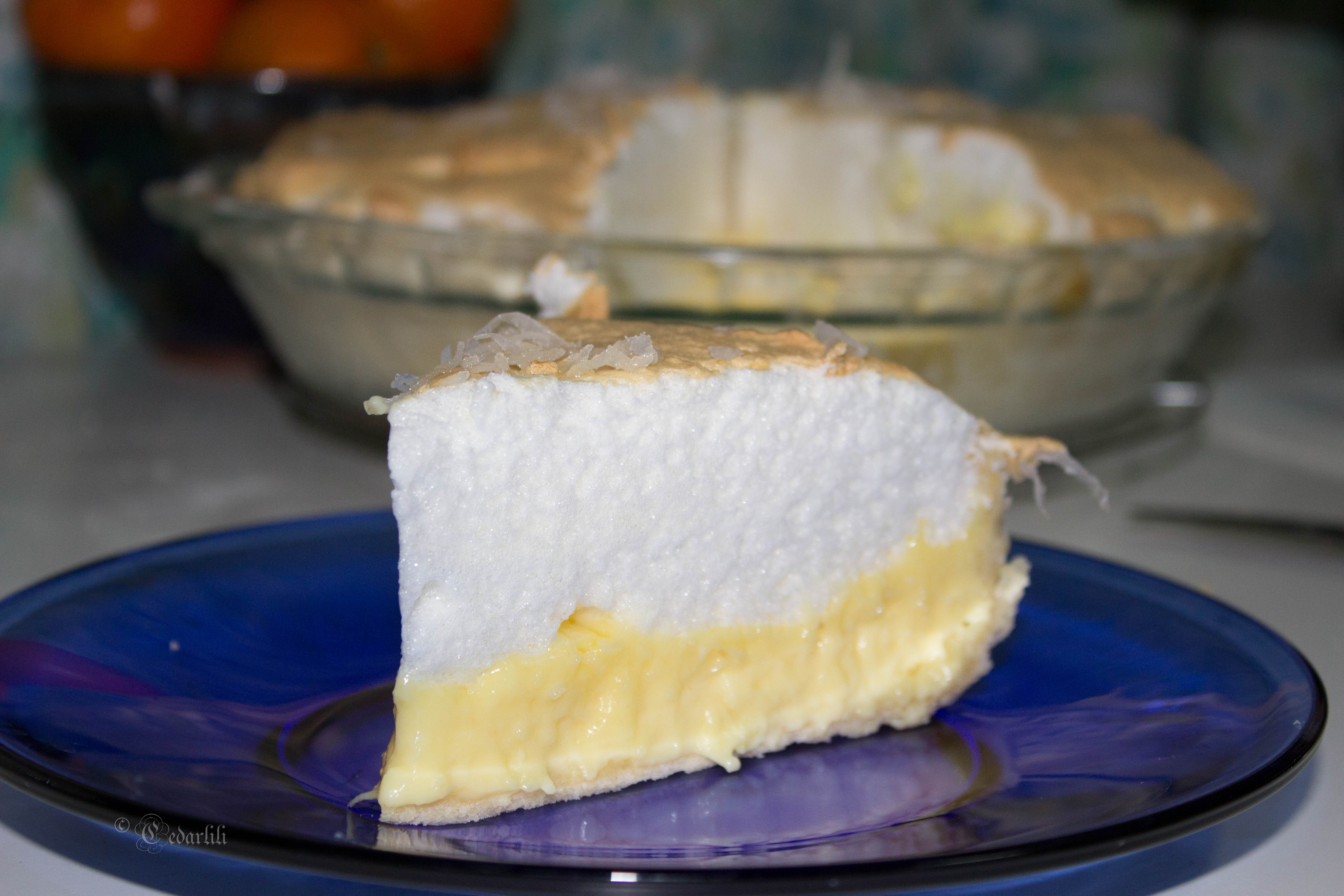 coconut meringue pie
