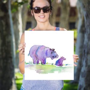 Purplepotamus Poster