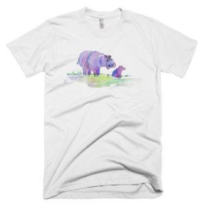 Purplepotamus unisex or men's t-shirt