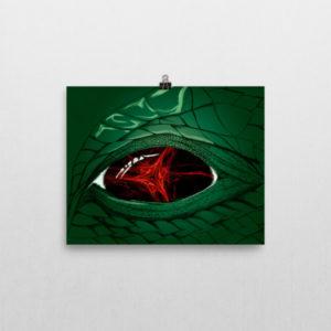 Dragon's Gaze Poster