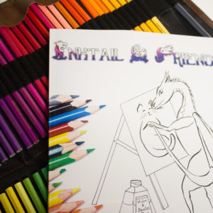 Inktail Friends E Coloring Book